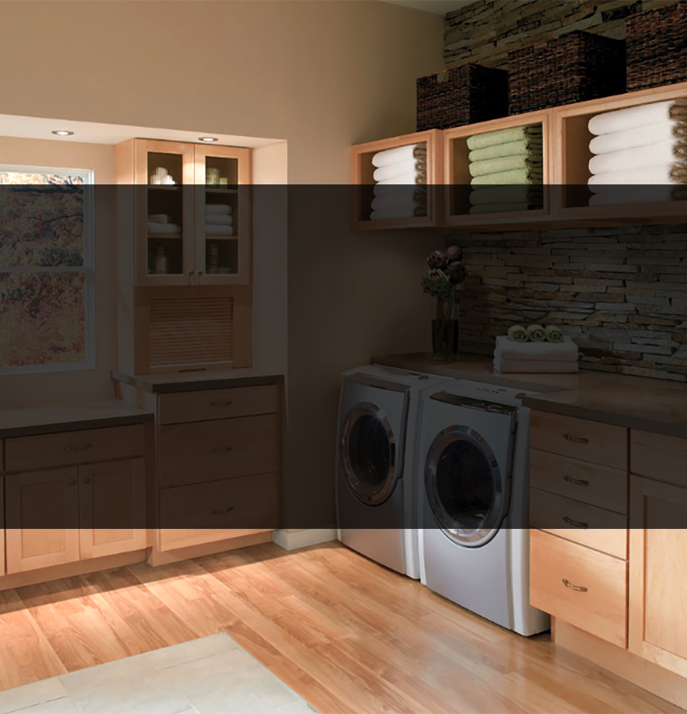 laundry room remodel built in cabinets