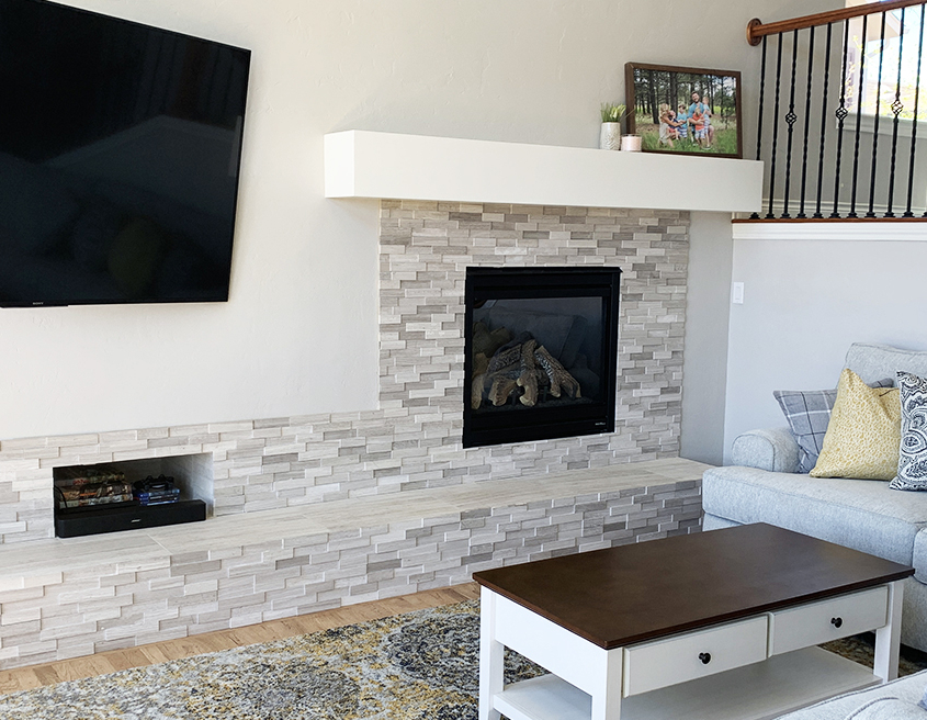 After Fireplace Remodel Colorado Springs
